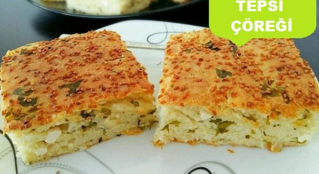 Peynirli Tepsi Çöreği Tarifi