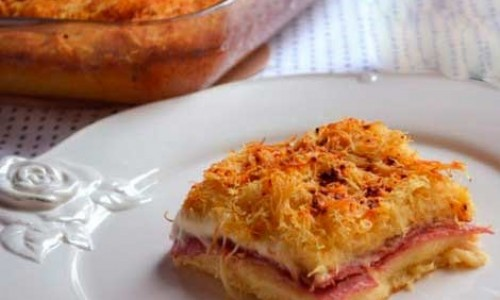 Jambon ve Peynirli Tel Kadayıf Tarifi