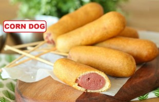 Mısır Kaplamalı Sosis Tarifi ( Corn Dog )