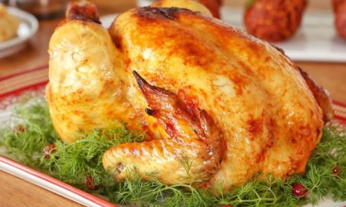Fırın Poşetinde Bütün Tavuk